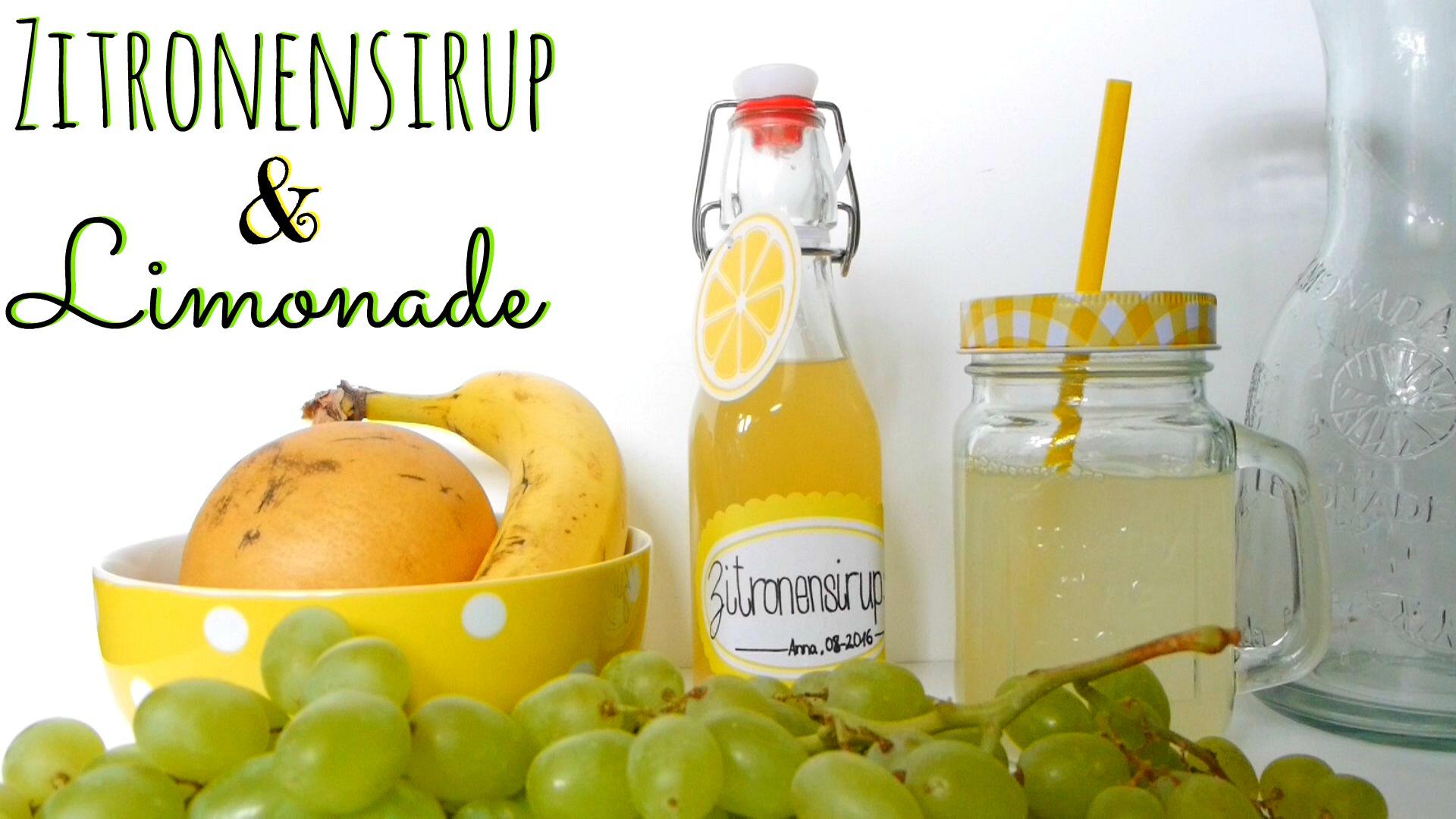 zitronensirup limonade selber machen nat rlich anna. Black Bedroom Furniture Sets. Home Design Ideas
